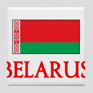 Belarus Flag Design Tile Coaster